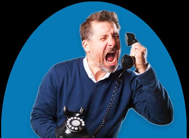 Angry customer phone