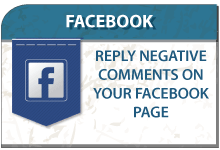 Answer negative comments on your Facebook page