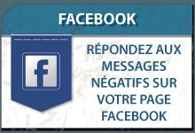 Répondez aux messages négatifs sur votre page Facebook