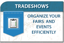 Organize your tradeshows and customers fairs